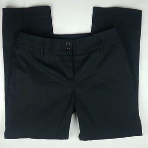 EUC LOFT cotton blend Crop pants Textured Black